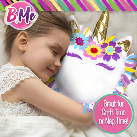B Me DIY Unicorn Pillow Kit for Girls - No Sew Unicorn Throw Pillow
