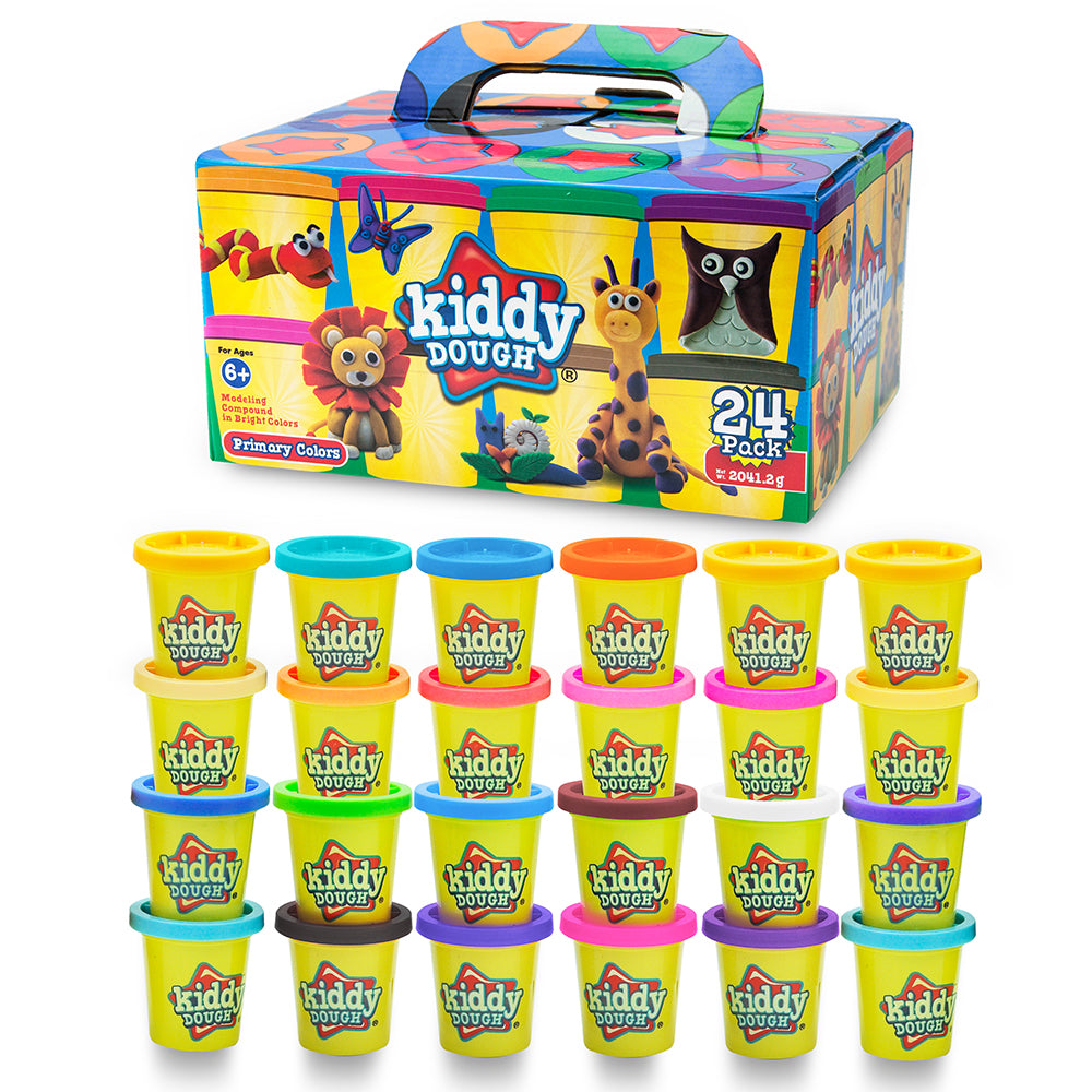 24 Pack Of Color Play Dough 3 Ounce Cans Bulk Party Animal