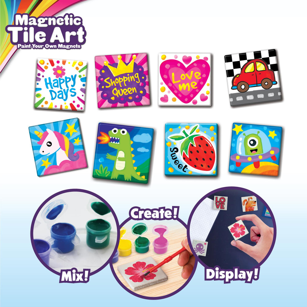 Magnetic Mini Tile Art - Make Your Own Paint Art Craft Set for Kids