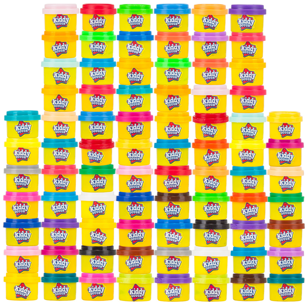80 Pack Of Party Favors Play Dough - Bulk Party Pack (1 oz tubs)