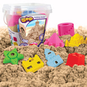Play Sand Bucket Activity Kit - 500 gr of Sand & 7 Molded Tools