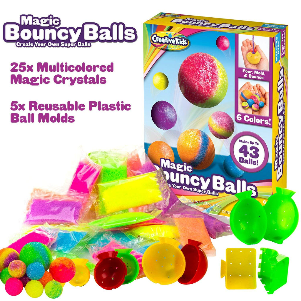 Magic Bouncy Balls - Create Your Own Power Balls Craft Kit for Kids - Makes Up To 43 Balls