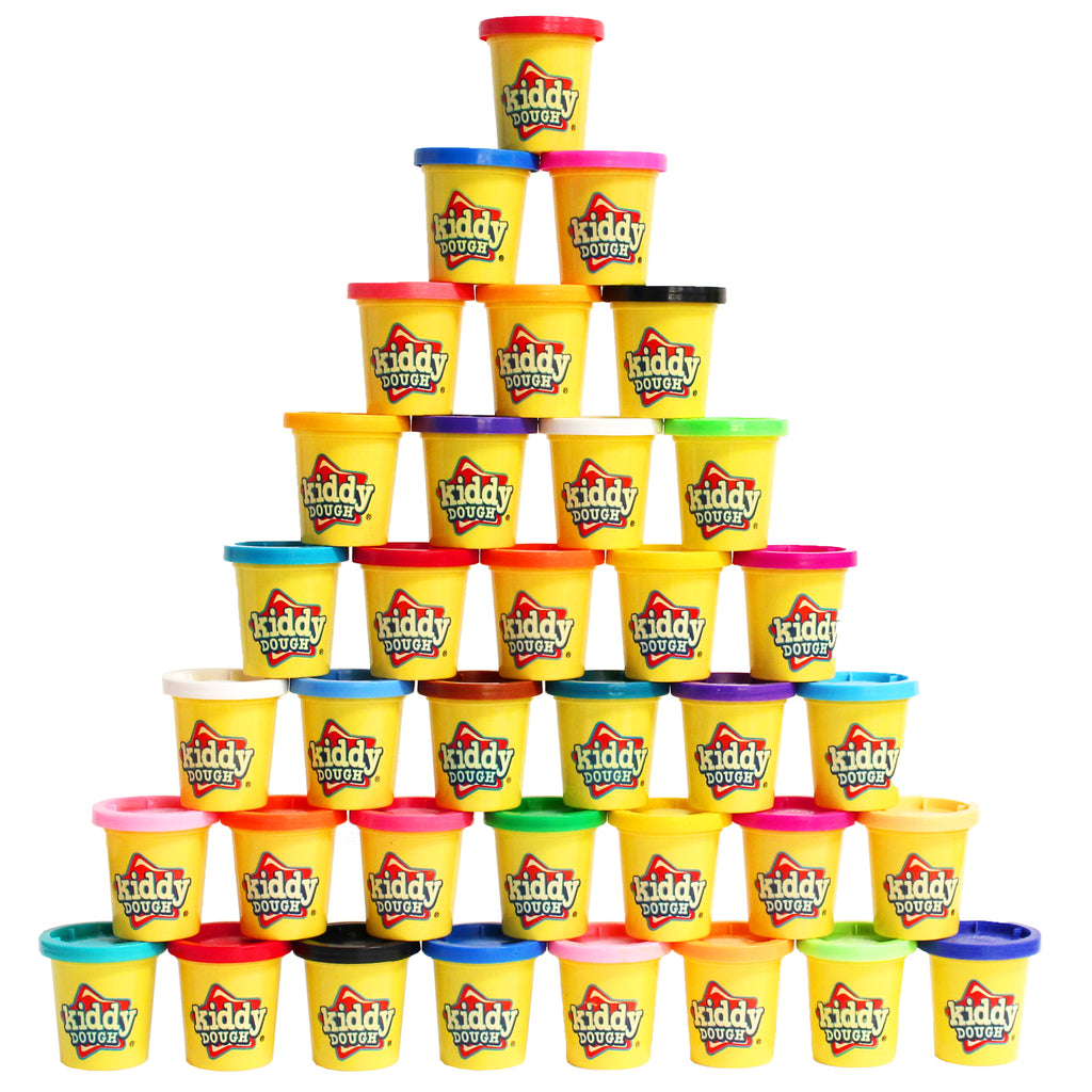 36 Pack of Color Play Dough - 3-Ounce Cans Bulk Party Pack