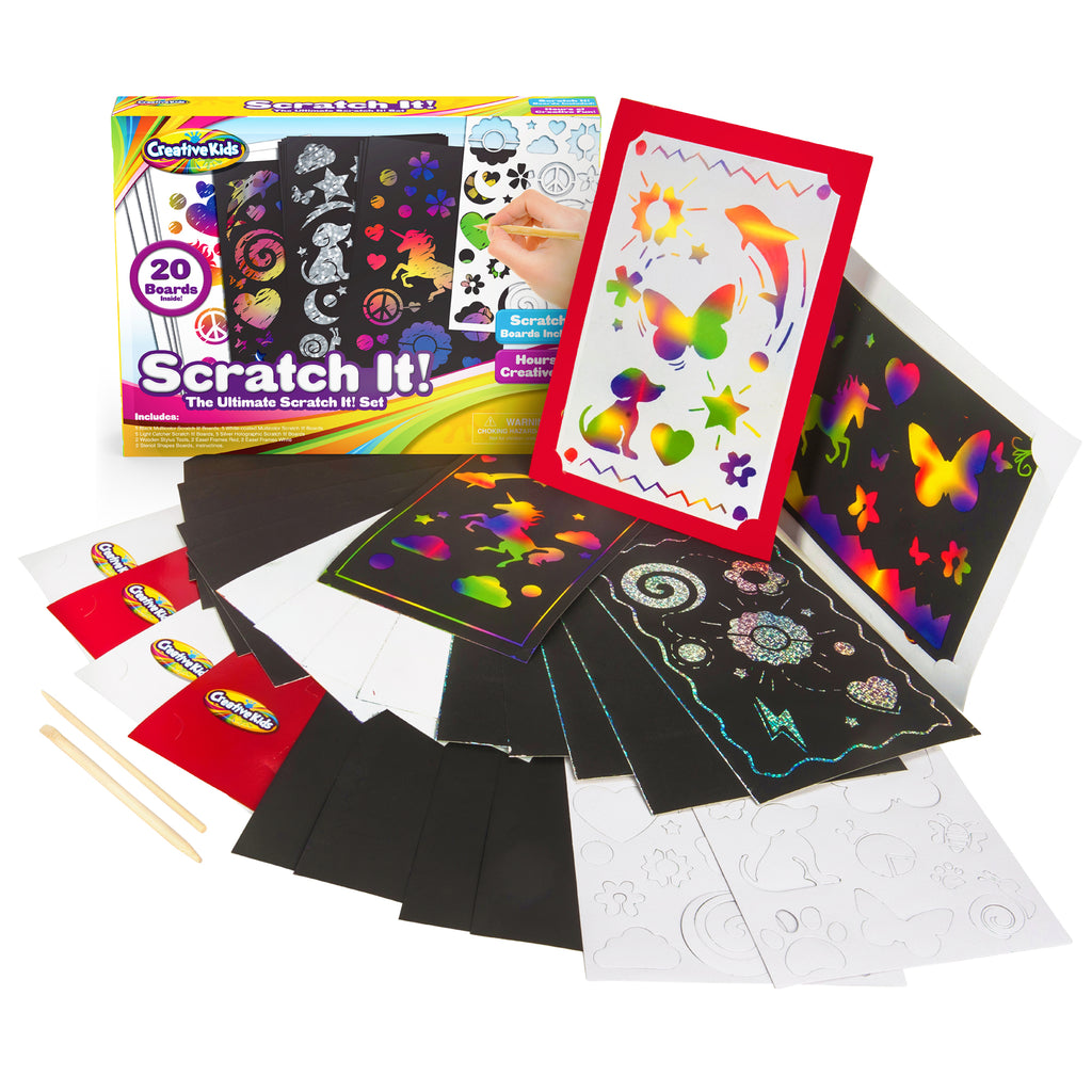 Deluxe Scratch It Activity Kit Kids