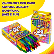 Bulk Classroom Crayons - 36 Packs of 24 Crayon Sets