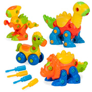 Build & Learn Dinosaur Toys Set w/4 Buildable Dinosaurs