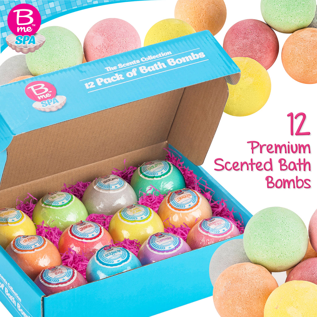 Spa Bath Bombs Gift Set – The Scents Collection - Pack of 12