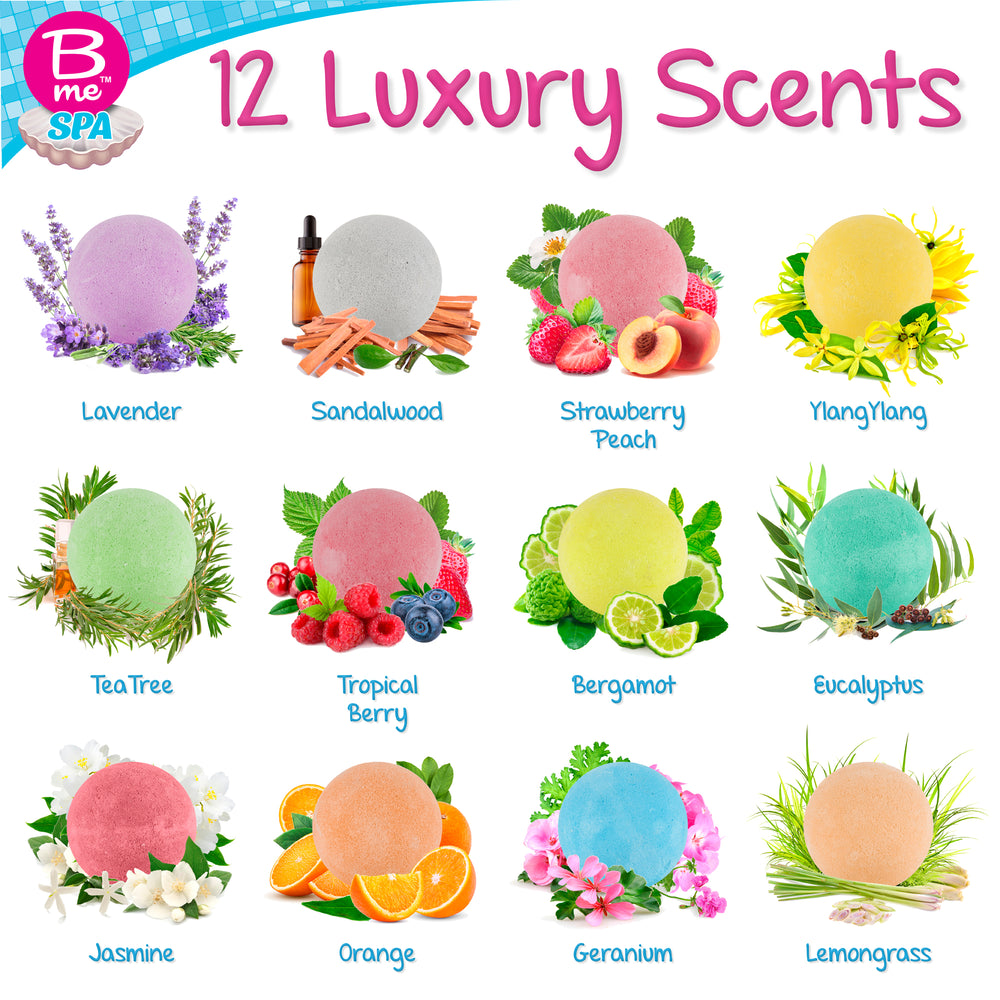 Spa Bath Bombs Gift Set – The Scents Collection - Pack of 24