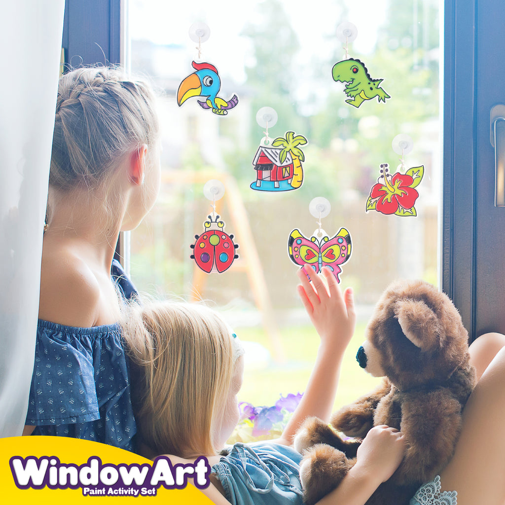 Window Paint Art Stickers Kit Kids
