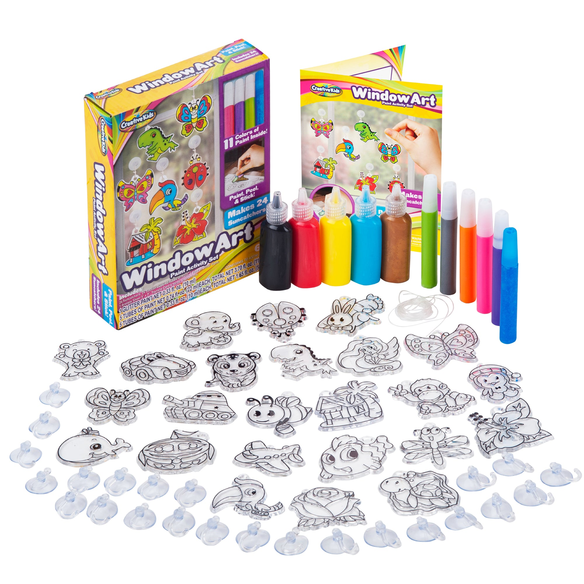 Window Paint Art Stickers Kit Kids Make Your Own Fun Sun