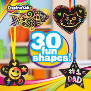 Creative Kids Rainbow Scratch Paper Craft Set - 185 Pieces Scratch Paper