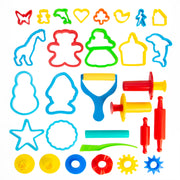 24 Piece Animal Shape Dough Tool Kit
