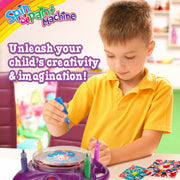 Creative Kids Spin & Paint Art Kit - Spinning Art Machine, Bottles Paint & Cards & White Crayons|6+