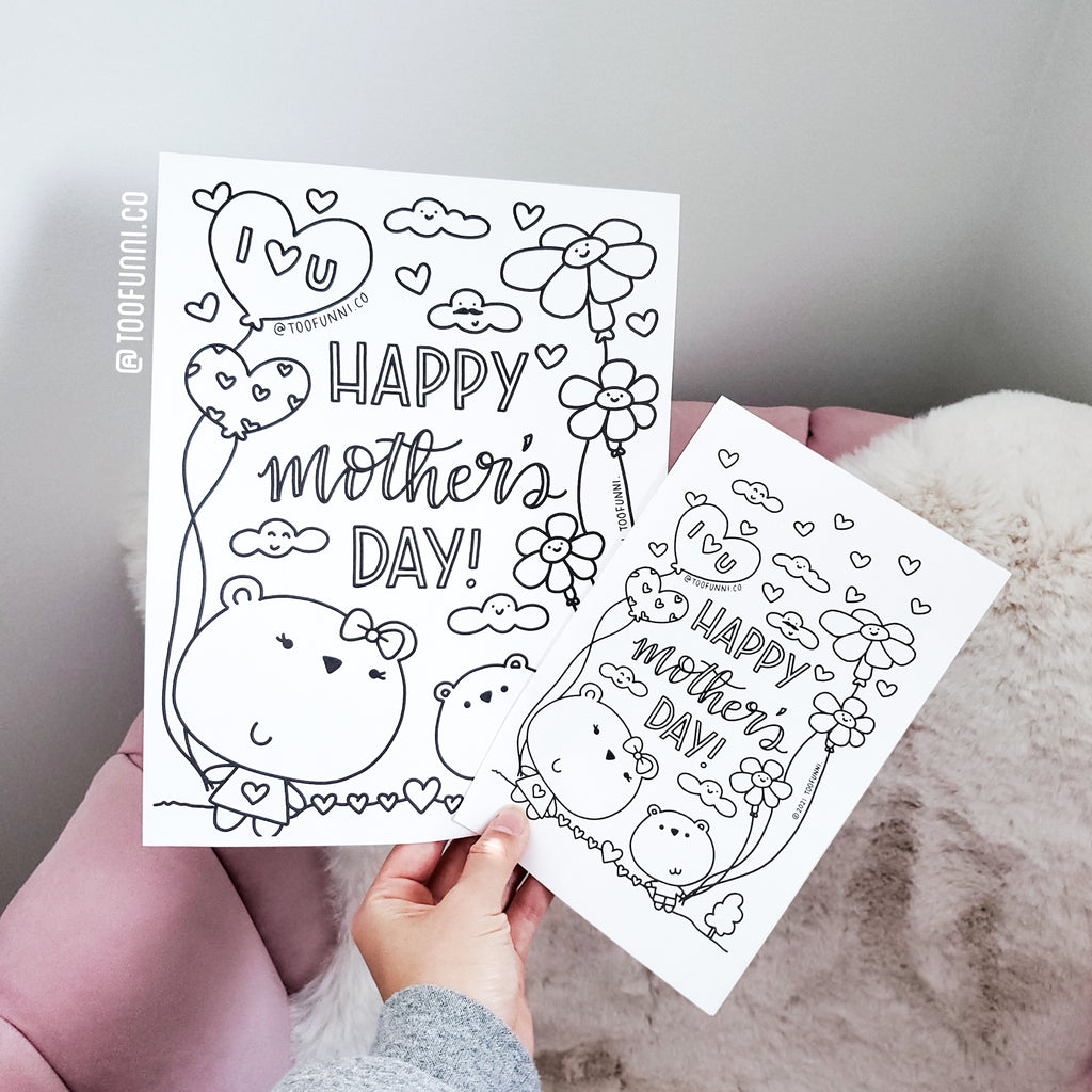 MOTHER'S DAY 2021 COLOURING PAGE - Free Instant Download