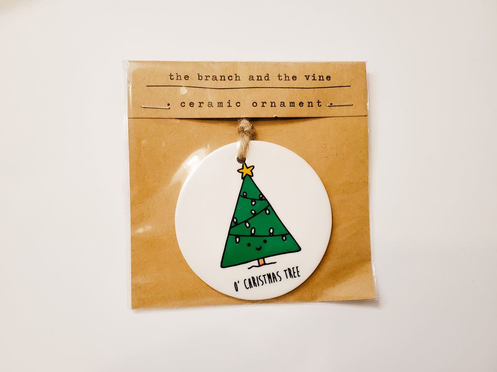 O' CHRISTMAS TREE - Ceramic Ornament