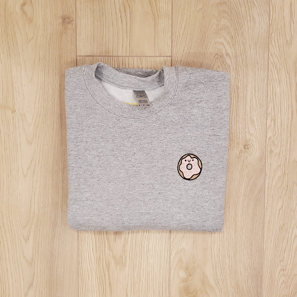 DONUT - SMALL - LT GREY CREW
