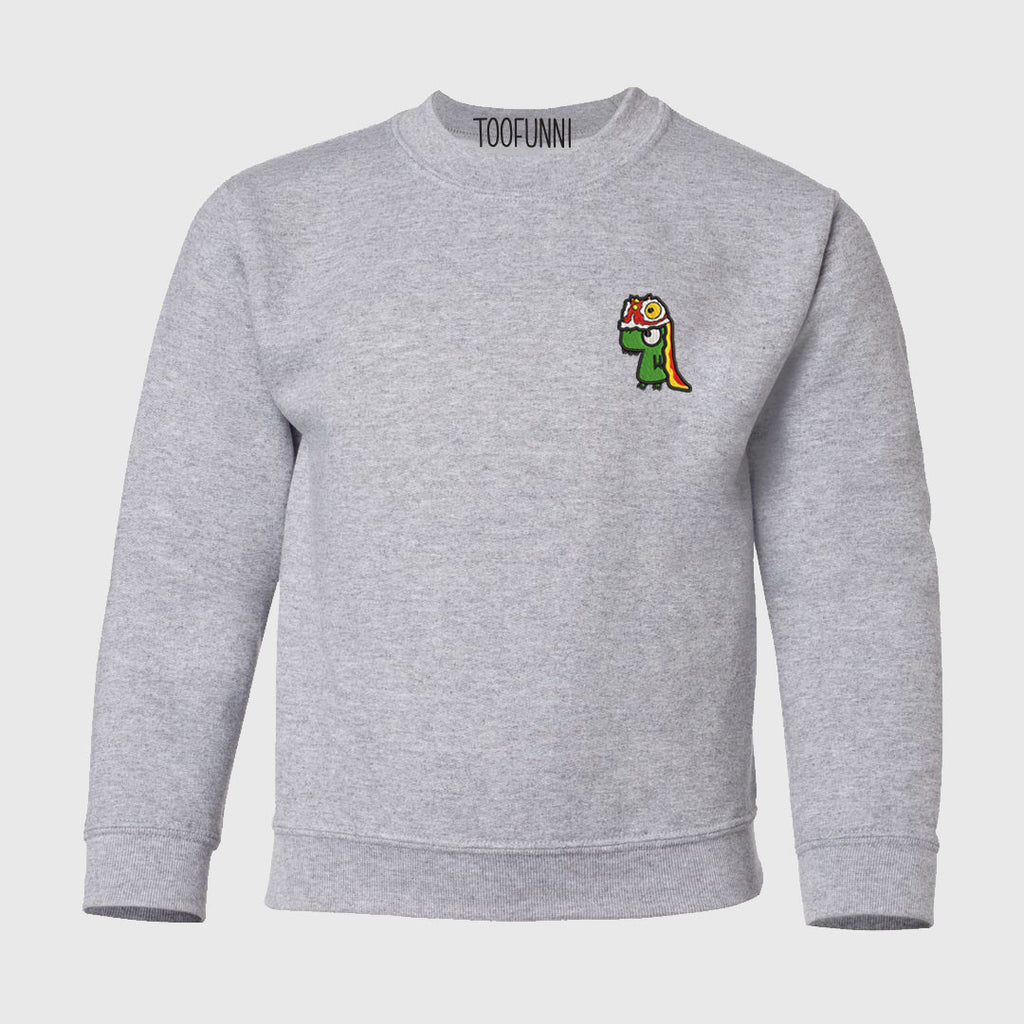 LNY LION DINO - Youth Crewneck