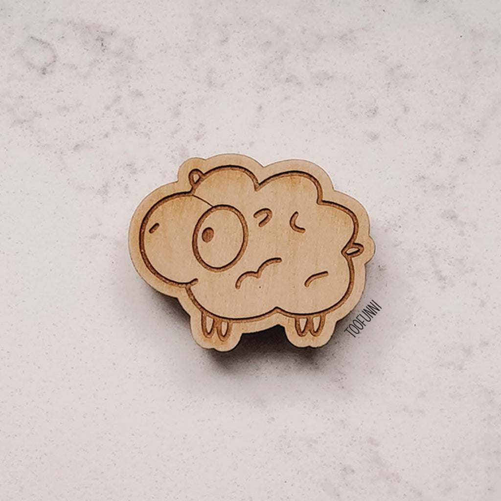EASTER SHEEP - Wood Keychain or Magnet