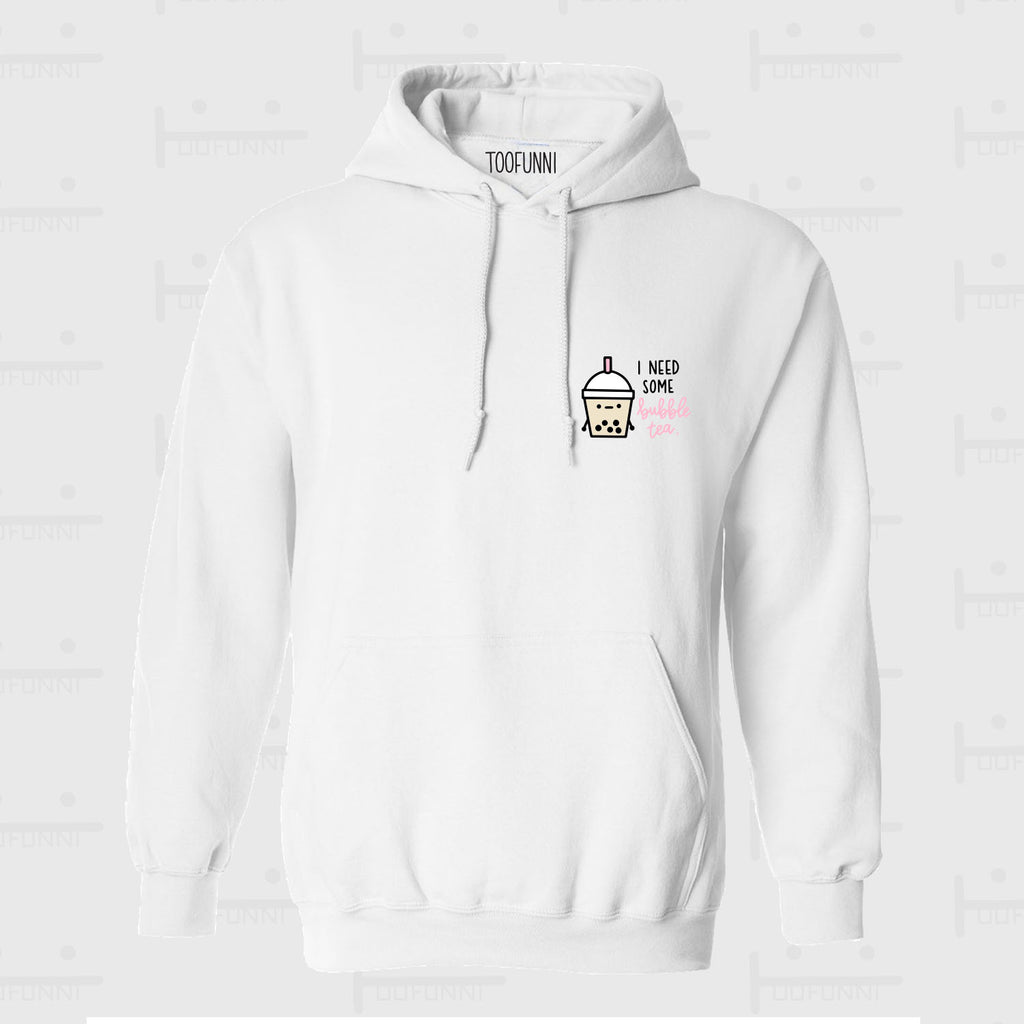 NEED BBT BLUE or PINK - WHITE HOODIE