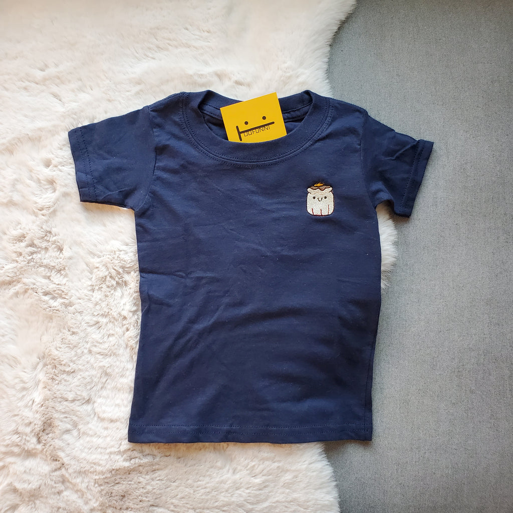 SIU MAI - TODDLER 2T - NAVY BLUE TEE
