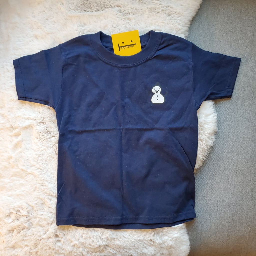 SNOWMAN - TODDLER 5T - NAVY TEE