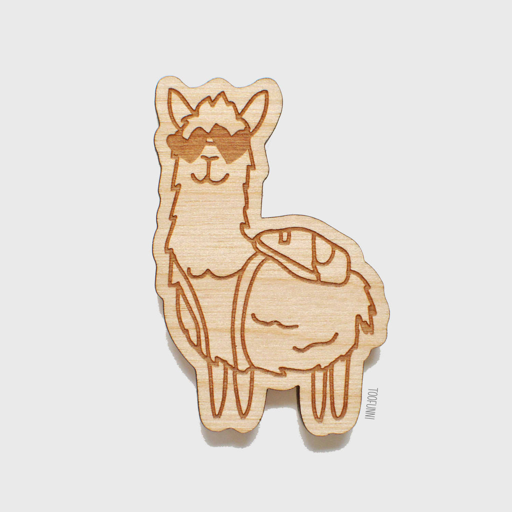 ALPACA - Wood Keychain or Magnet