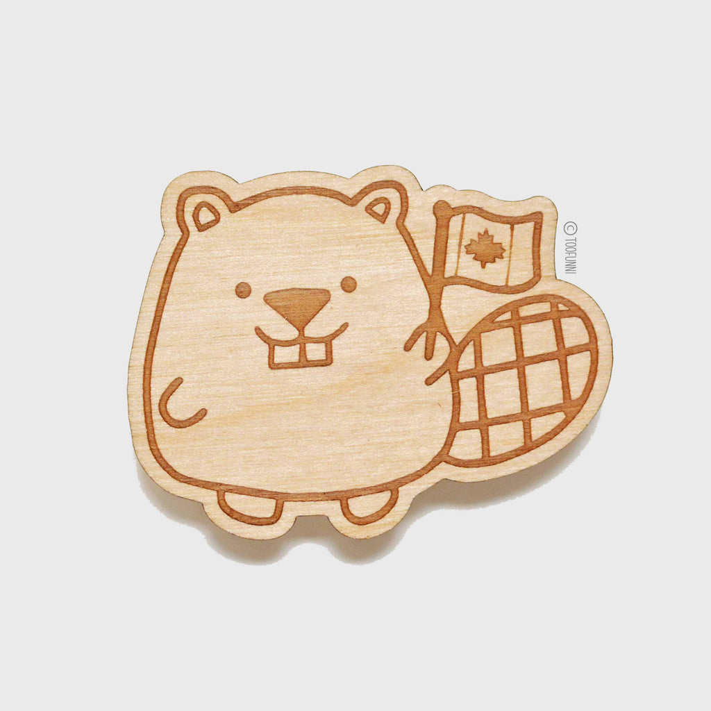 BEAVER - Wood Keychain or Magnet