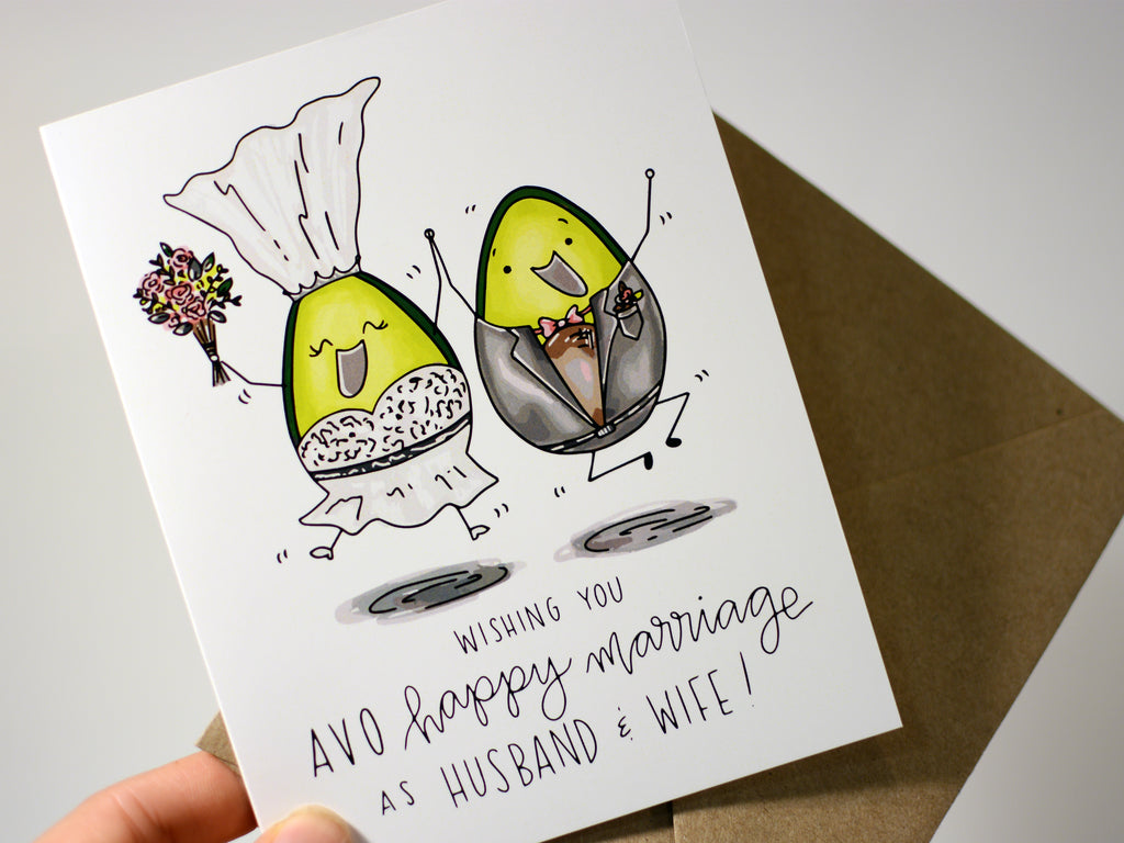 AVO WEDDING - Card