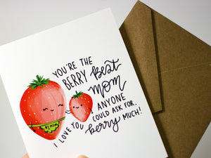 BERRY BEST MOM - Card