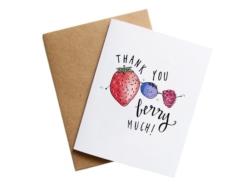 THANKS BERRY MUCH - Card
