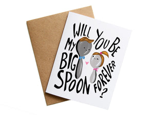 BIG SPOON LITTLE SPOON - Card