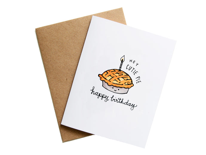 HEY CUTIE PIE - Card