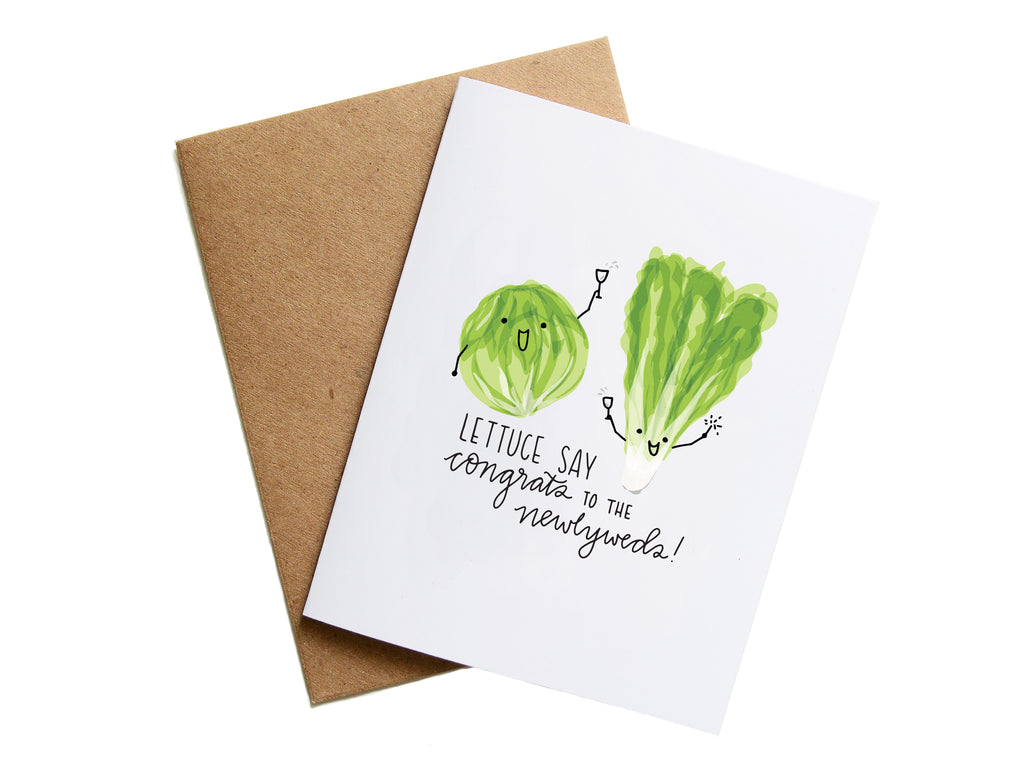 LETTUCE WEDDING - Card