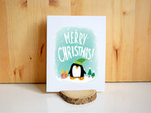 MERRY CHRISTMAS PENGUIN - Card