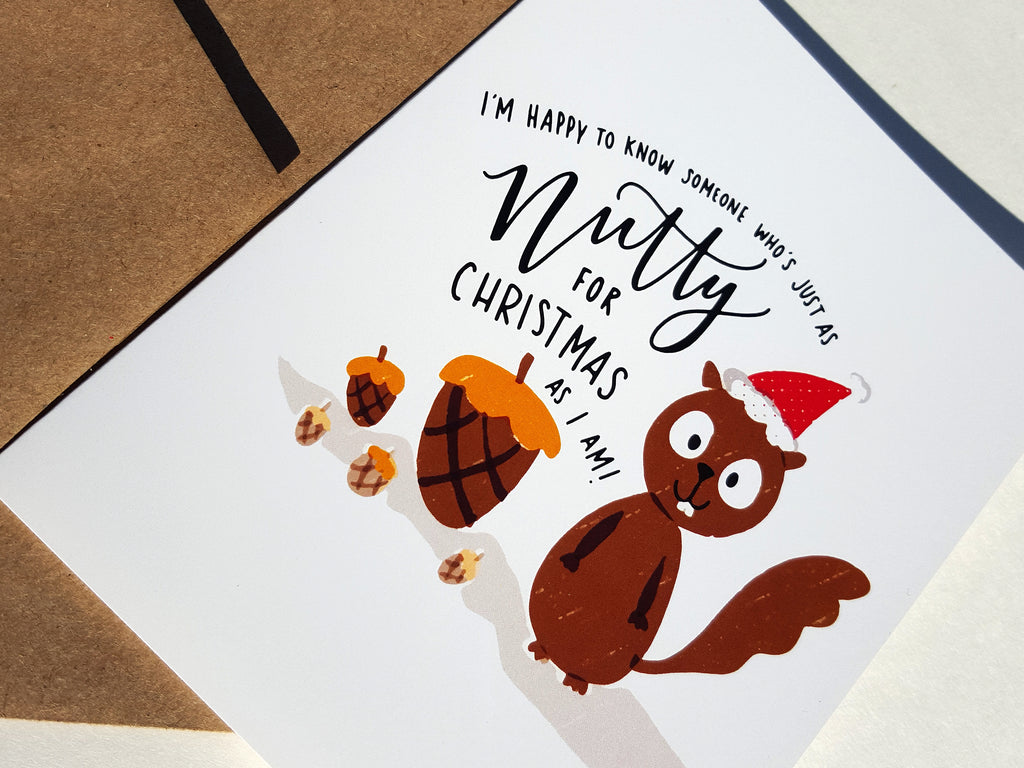 NUTTY FOR CHRISTMAS- Card