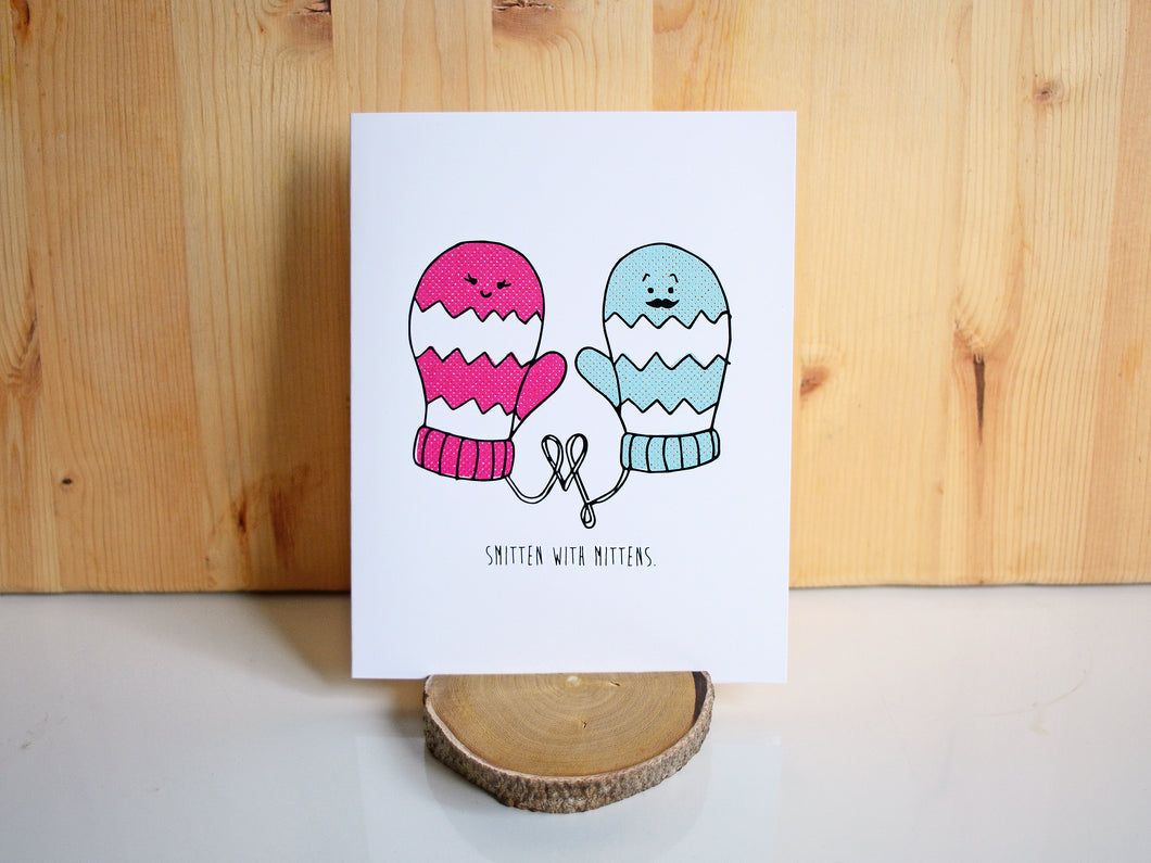 SMITTEN WITH MITTENS - Card
