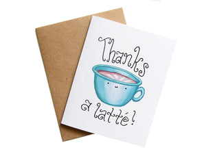 THANKS A LATTE - Card