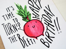 TURNIP THE BEET - Card