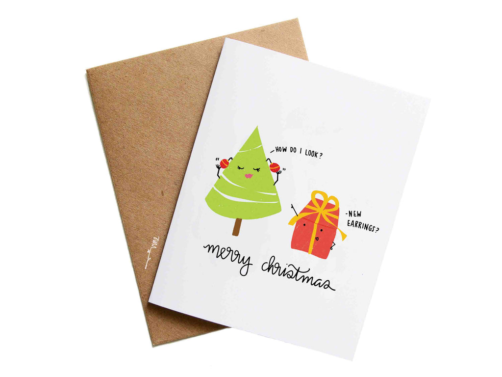 XMAS EARRINGS - Card
