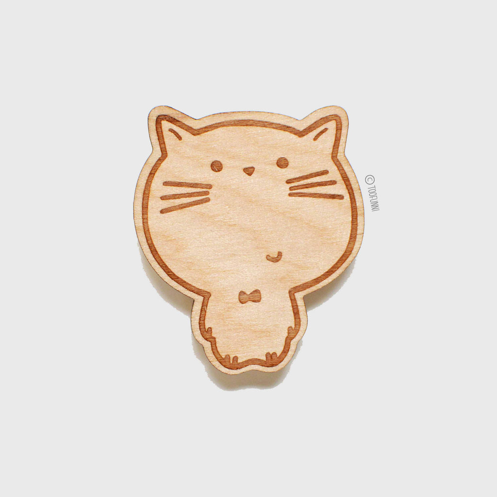CAT - Wood Keychain or Magnet