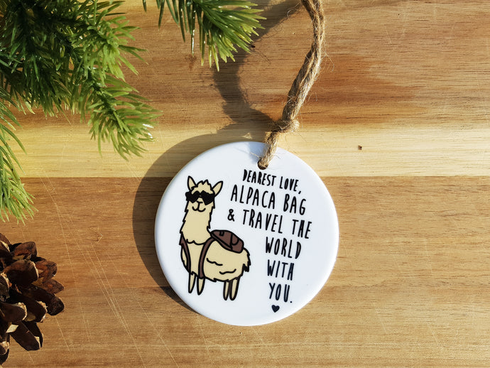 ALPACA BAG - Ceramic Ornament