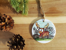 MERRY CHRISTMOOSE - Ceramic Ornament