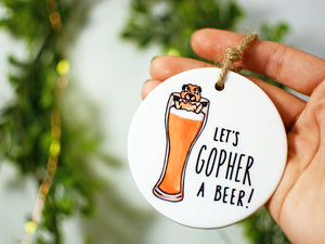 GOPHER BEER - Ceramic Ornament