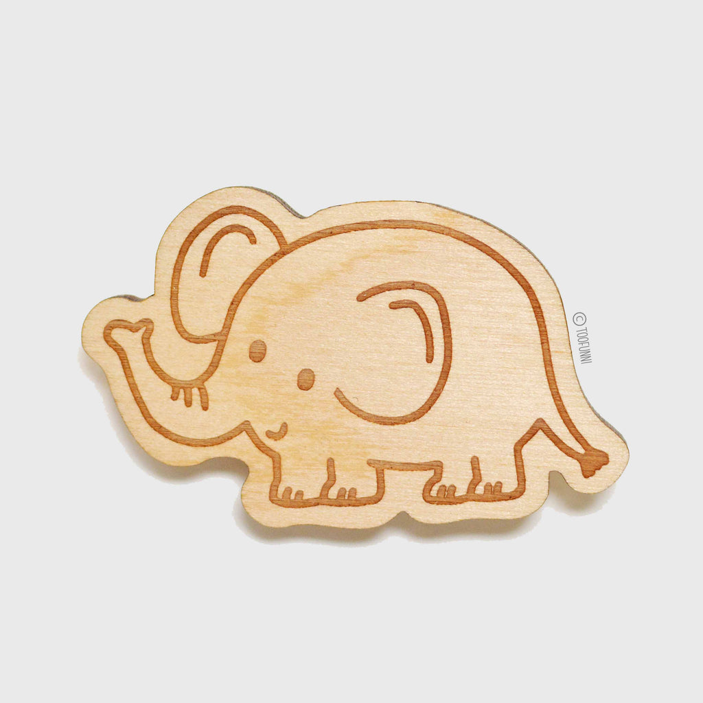 ELEPHANT - Wood Keychain or Magnet