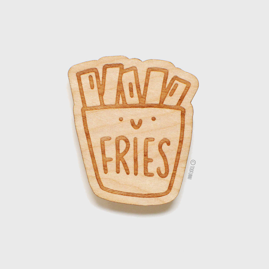 FRIES - Wood Keychain or Magnet