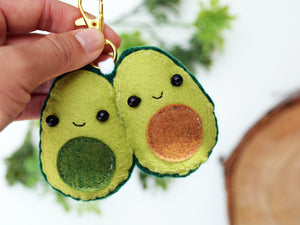 AVOCUDDLE - GREEN - | Keychain | Ornament | or | Magnet |