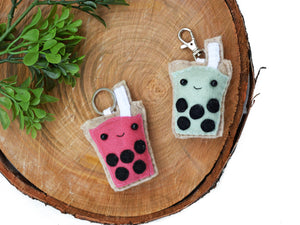 BUBBLE TEA - PINK - | Keychain | Magnet | or | Ornament |