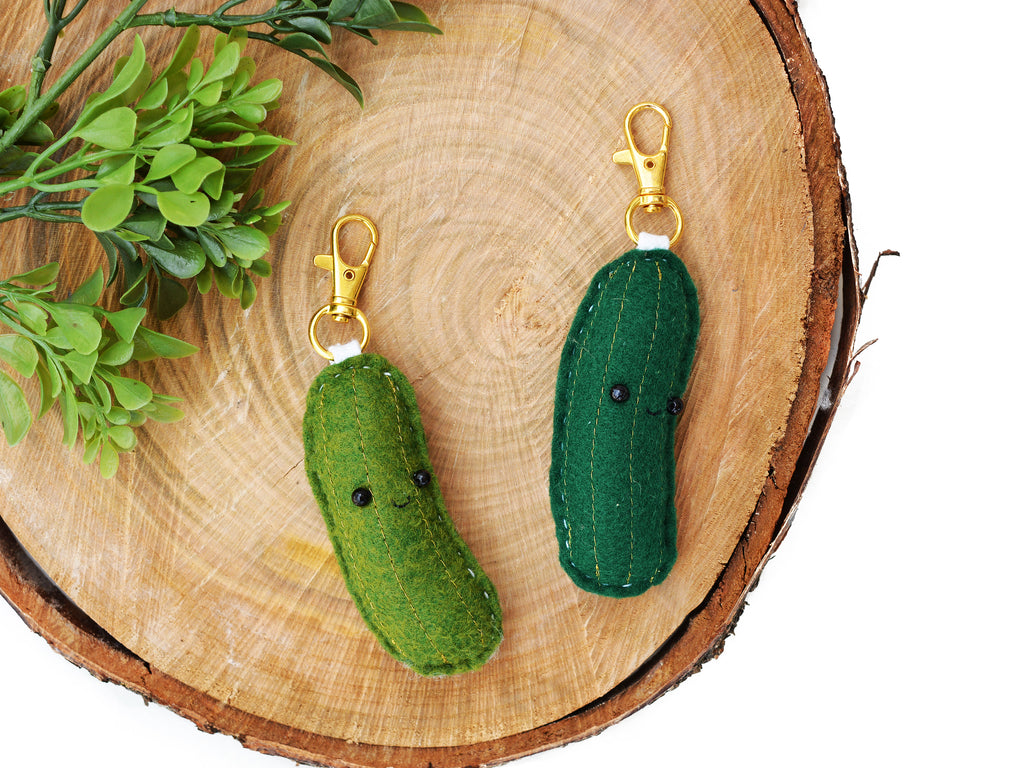 PICKLE - DARK GREEN - | Keychain | Ornament | or | Magnet |