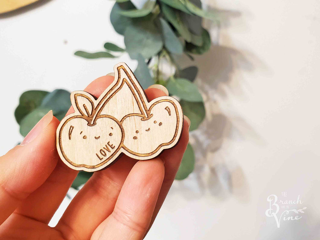 LOVE - Wood Laser Cut Keychain | or | Magnet