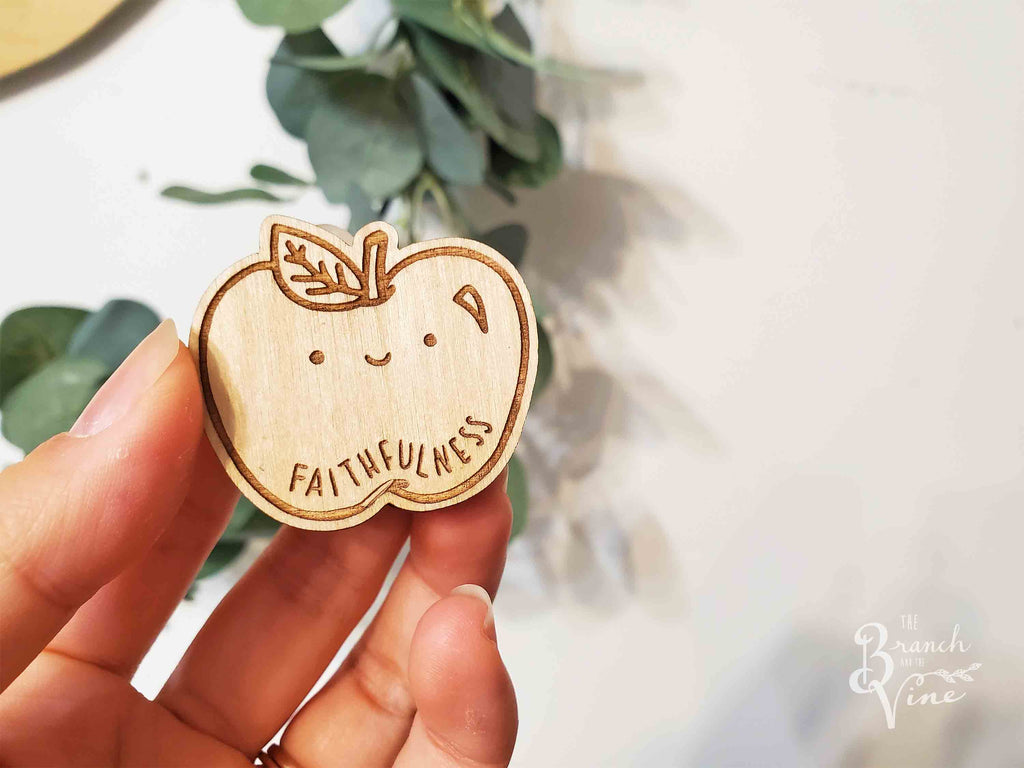 FAITHFULNESS - Wood Laser Cut Keychain | or | Magnet
